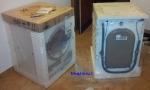 Pračka a sušička zabalené
